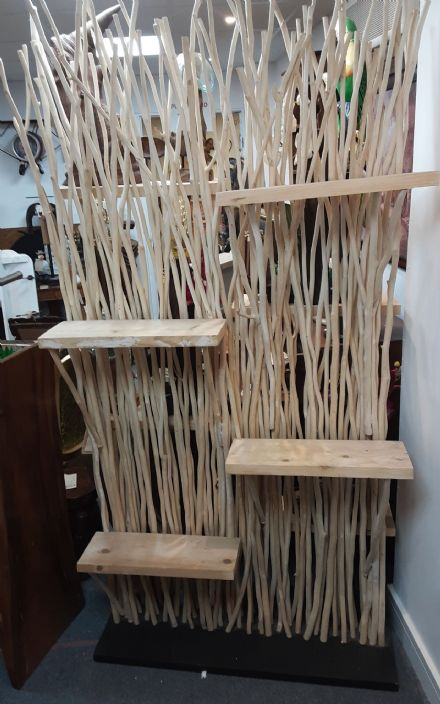 Free Standing Twig Shelf Unit